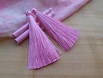 Hodvábne strapce - pár (Ružové)