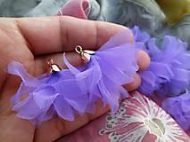 - Textilné kvety - pár (viac druhov) (Fialové organzové kvety) - 8955847_