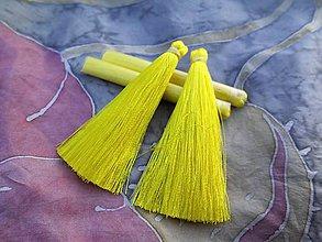 Galantéria - Hodvábne strapce - pár - zľava (Žlté) - 8955392_