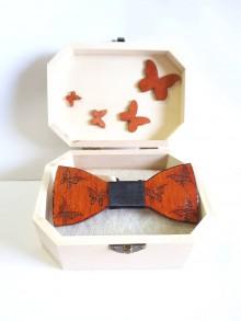Doplnky - Pánsky drevený motýlik - 8956634_