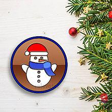 Dekorácie - Vianočná grafická čokoláda (snehuliak) - 8956562_