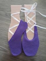 Materiál ručne robený - Baletné topánky do Qb - 8958042_