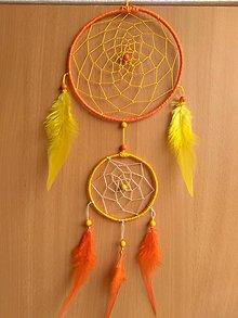 Dekorácie - Zlto-oranzovy lapac snov - 8958428_
