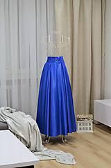 Sukne - MAXI saténová sukňa - 8957301_