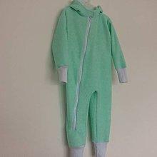 Detské oblečenie - Dětský overal-mátový polar - 8958054_
