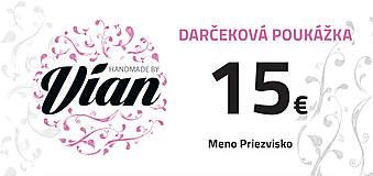 Iné šperky - Darčeková poukážka v hodnote 15€ - 8957576_