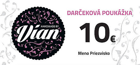 Iné šperky - Darčeková poukážka v hodnote 10€ - 8957563_