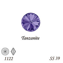 Korálky - SWAROVSKI® ELEMENTS 1122 Rivoli - Tanzanite, SS 39(8mm), bal.1ks - 8958569_