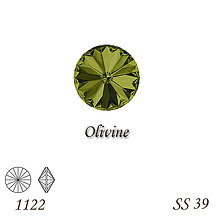 Korálky - SWAROVSKI® ELEMENTS 1122 Rivoli - Olivine, SS 39(8mm), bal.1ks - 8958692_