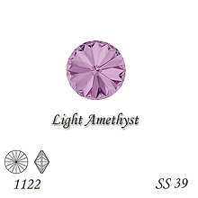 Korálky - SWAROVSKI® ELEMENTS 1122 Rivoli - Light Amethyst, SS 39(8mm), bal.1ks - 8958805_