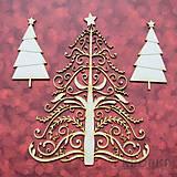 - Výrez Sneží - Vianočný stromček ornamentový #2 - 8959624_