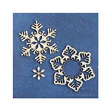 Polotovary - Výrez Mrazom maľovaný - Vrstvená vločka s kvetinou - 8959643_