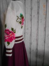 """Svetre/Pulóvre - """"Romantik FLORAL"""" vyšívaný pletený pulóver z mohéru - 8959239_"""