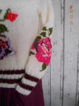 """Svetre/Pulóvre - """"Romantik FLORAL"""" vyšívaný pletený pulóver z mohéru - 8959282_"""
