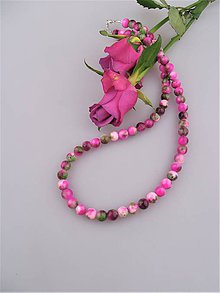 Náhrdelníky - divoká ruža náhrdelník jadeit - 8959680_