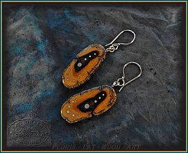 Náušnice - 187.dřevěné náušnice - Pouštní - Mexiko - 8960149_