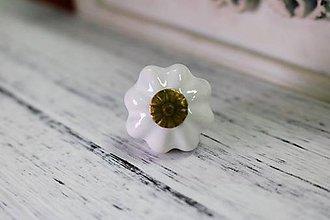 Polotovary - Porcelálová úchytka biela - 8959375_