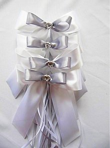 Dekorácie - mašle na svadobné auto - 8959996_