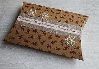 Krabičky - Sobík - vianočná darčeková krabička - 8959416_
