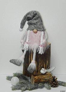 Dekorácie - Zimný trolko - dievčatko - 8959779_