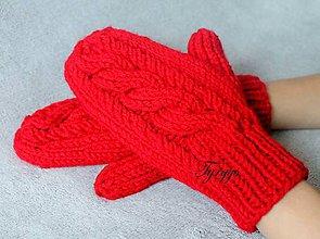 Rukavice - Rukavice červené - 8960961_