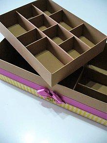 Krabičky - vintage poschodová šperkovnica - 8961052_