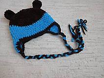 Detské čiapky - Zimná čiapka s uškami II. - 8960697_