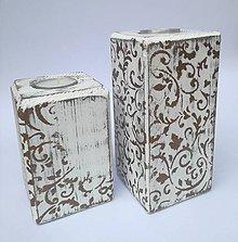 Svietidlá a sviečky - Svietnik - bronzový ornament - 8962135_