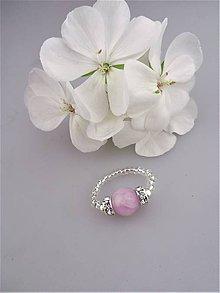 Prstene - kunzit prsteň ružové zore - 8962159_
