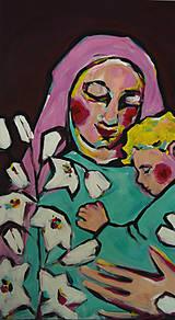 Obrazy - Obraz na plátne - Panna Mária s Ježiškom - 8961553_