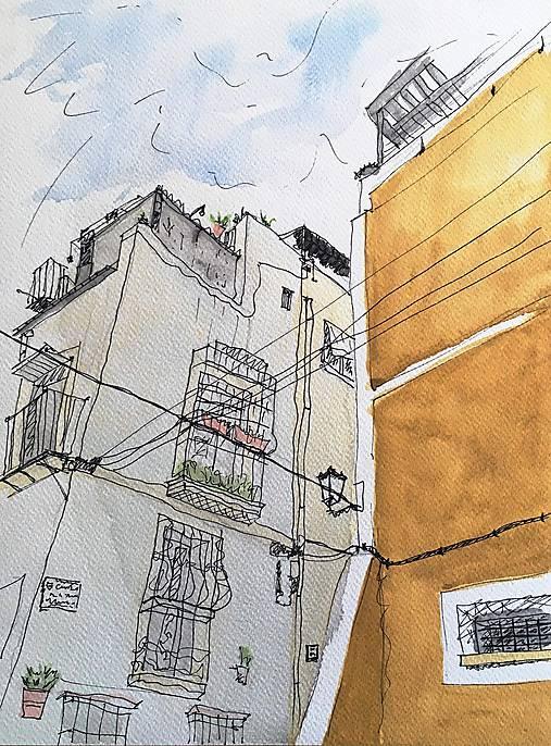 Kresby - Aqarel - Španielská architektúra - 8962235_