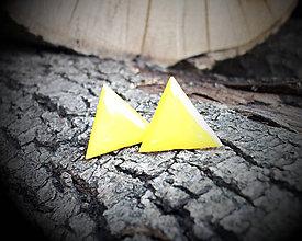 Náušnice - Trojuholníky 20 mm (žlté) - 8962700_