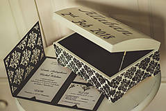 Krabičky - Svadobná truhlica Élégance - 8962434_