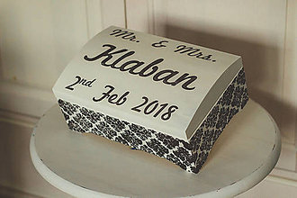 Krabičky - Svadobná truhlica Élégance - 8962433_