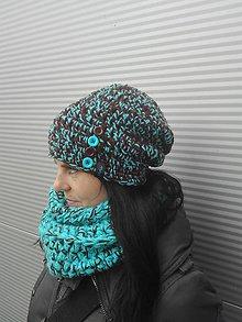 Čiapky - zimný set - čiapka - tunel - 8963086_
