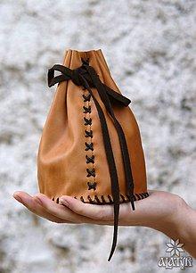 Peňaženky - Veľký kožený mešec - 8962869_