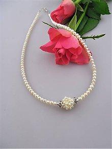 Náhrdelníky - Náhrdelník perly pravé - 8963732_