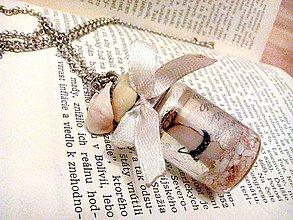 Náhrdelníky - Náhrdelník s fľaštičkovým tajomstvom - 8963450_