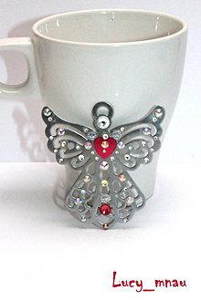 Odznaky/Brošne - Brošnička Anjel strážny-ružový :) - 8963465_