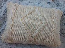 Úžitkový textil - Pletený vankúš Martina - 8963255_