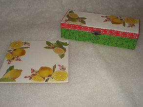 Krabičky - set do kuchyne - citron - 8965343_