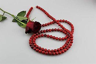 Náhrdelníky - Koral červený náhrdelník extra dlhý- AKCIA! - 8964926_