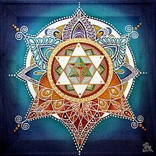 Obrazy - Mandala prijatia a sebalásky - 8963886_