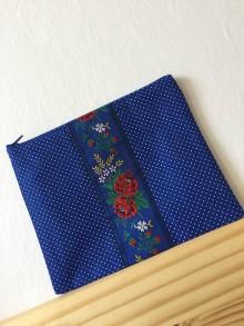 Taštičky - KAPSIČKA - ľudová modrá - 8964899_