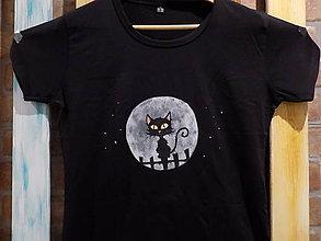 Tričká - Dámske tričko - Black Cat - 8964110_