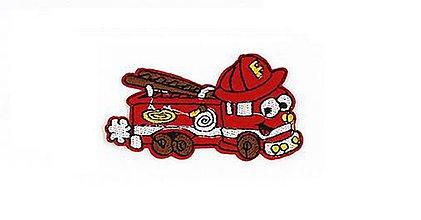 Galantéria - Nažehľovačka Požiarnicke autíčko - 8964527_