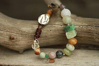 Náramky - Boho náramok z minerálov amazonit, achát, jaspis - 8964951_