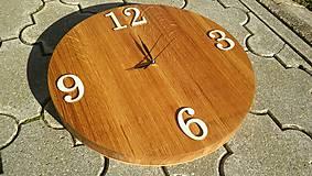 Dubové hodiny (masív 45 cm priemer)
