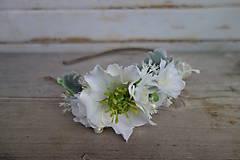 Kvetinová čelenka pre nevestu