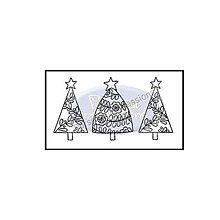 Pomôcky/Nástroje - Silikónové razítko Christmas Trees - 8966767_